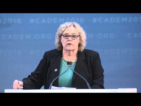 Congressmember Zoe Lofgren at CA Democrats Convention 2016