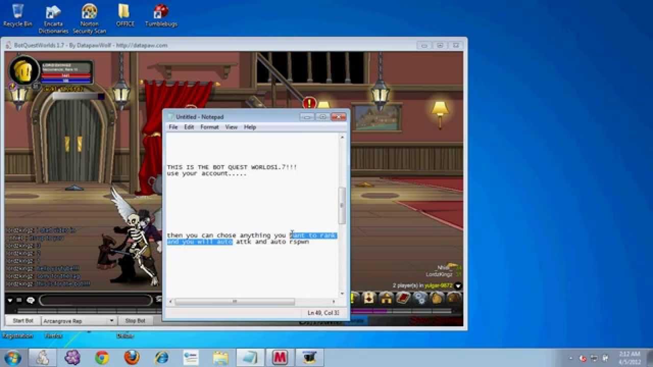 botquestworlds 1.7 exe