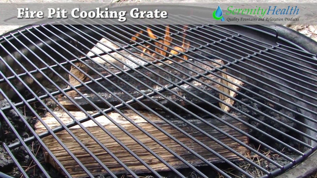 Fire Pit Cooking Grate Demo by Serenity Health - Fire Pit Cooking Grate Demo By Serenity Health - YouTube