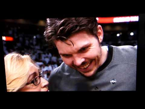 NBA Finals Game 5 2012 Halftime Interview with Mike Miller