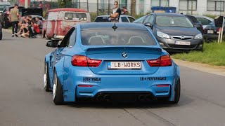 BMW M4 Liberty Walk w/ Straight Pipe Exhaust - LOUD accelerations, Sounds, ...