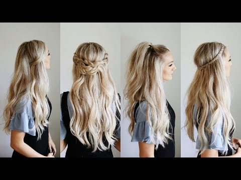 4 Quick Go-To Half Up Styles | Keep Hair Out Of Your Face