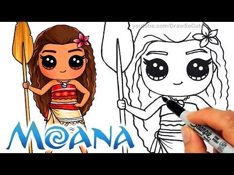 איך לצייר את מואנה