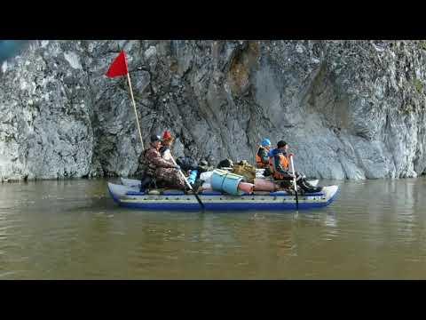 Башкиры на сплаве по реке Агидель