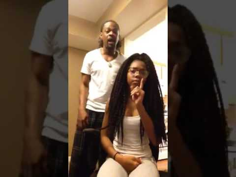 "Ten Toes Down challenge ""Father & Daugher"