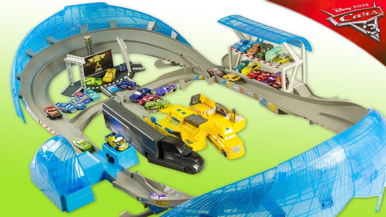Cars 3 Ultimate Florida 500 Speedway Circuit Floride Jouet Toy Review Mcqueen Cruz Storm Noel 2018 Youtube
