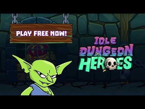 Idle Dungeon Heroes ⚔️ Protect your treasure! (en Landscape 30s)
