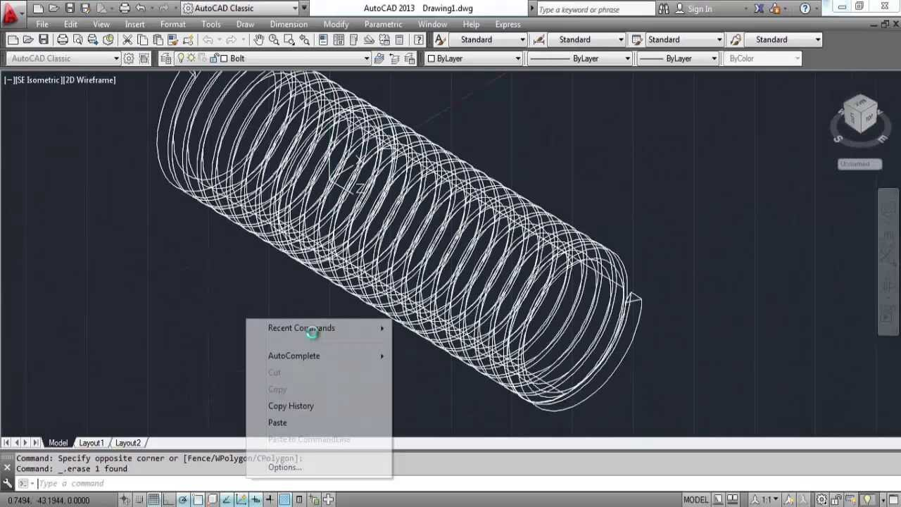 AutoCAD Auto Bolts and Nuts with Excel Programs