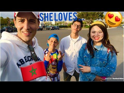 Elle est tombée amoureuse du Maroc 🇲🇦😍❤️ ... شوف هجوم فتيات على صديقاتي بسبب سلفي