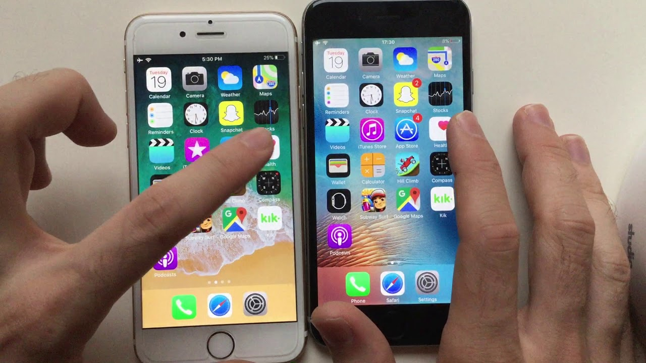 iphone 6 ios iphone 6 ios 9 vs ios 11 speed test 11350