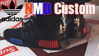 Adidas NMD R1 OG CUSTOM Tutorial Blackout + On Foot Sneaker Review !! 👀 01f56c710