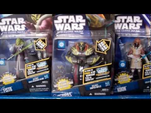 Star Wars 2011 Clone Wars Wave 4 And 5 Action Figures Haul