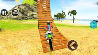 Motocross Beach Race Jumping 3D #Dirt Motor Cycle Racer Games Part 03