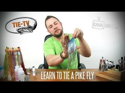 Tie TV - Learn How to Tie a Pike Fly - Niklaus Bauer (English Subtitles)