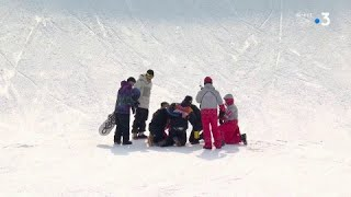 JO 2018 - Snowboard Slopestyle - La chute terrible de Mans Hedberg.