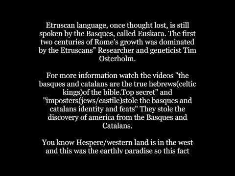 Basque is the original language of the homosapiens/white man(Basque man) Hidden history.SOS