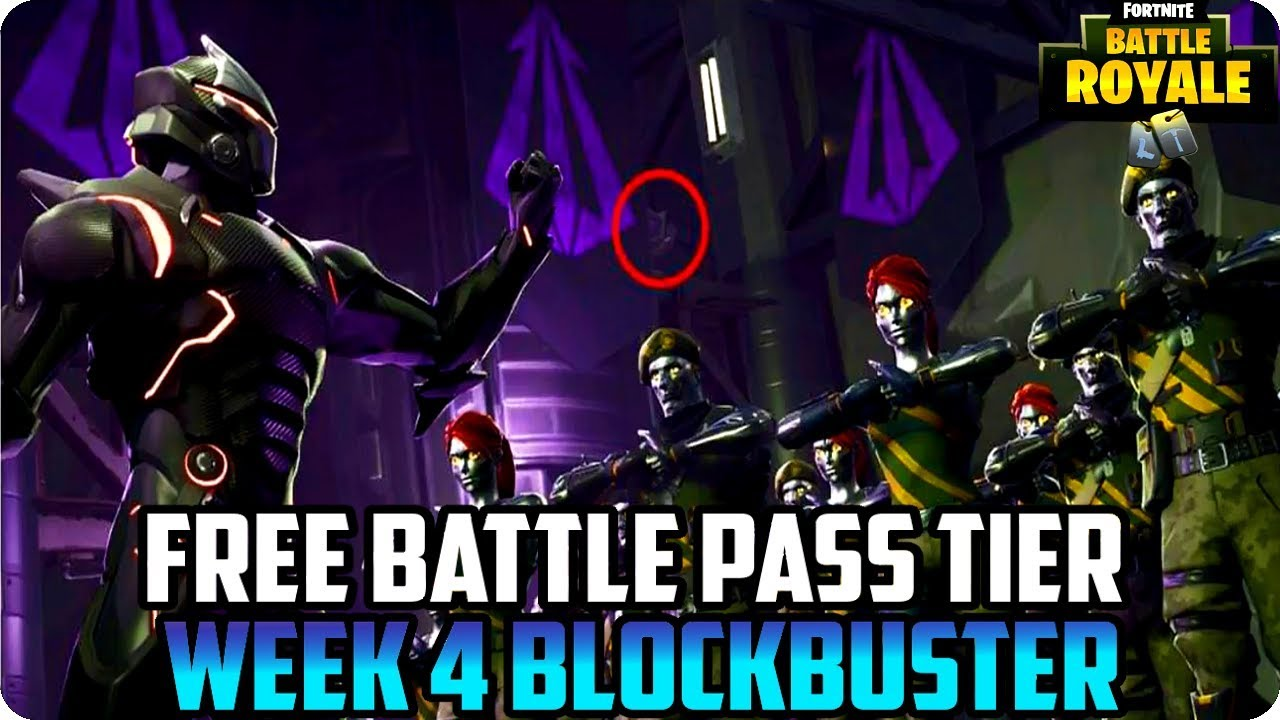 Season 4 Week 4 Free Battle Pass Tier Fortnite Hidden Blockbuster