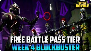Saison 4 Semaine 4 Free Battle Pass Tier: Fortnite Hidden Blockbuster Challenge