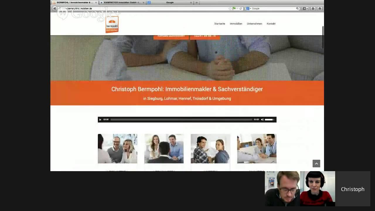 Makler Lohmar die perfekte makler homepage