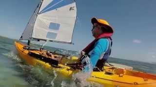 Kayak à voile, moteur et pagaie :  tortues à Ilot Maitre (Noumea)