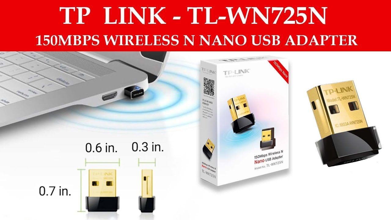 TP-Link - 150mbps Wireless N Nano Usb Adapter (Unboxing & Review)