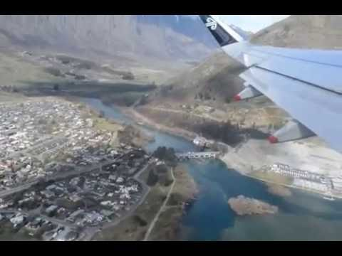 Air New Zealand Scary Take off from Queenstown  Airport