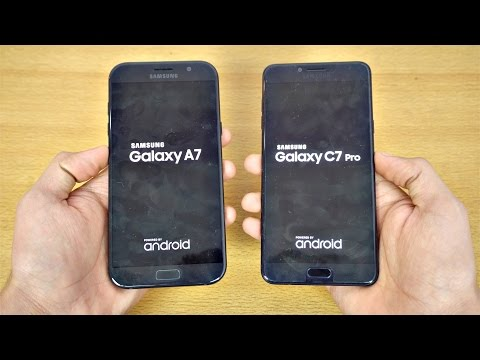 Samsung Galaxy C7 Pro vs Galaxy A7 (2017) - Speed Test! (4K)