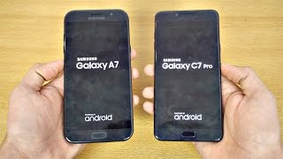 Samsung Galaxy C7 Pro vs Galaxy A7 (2017) - Speed Test! (4K)