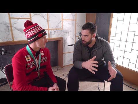 Laurent Duvernay-Tardif discute avec Maxence Parrot