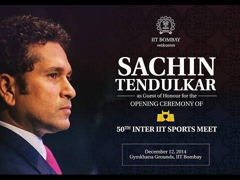 Sachin Tendulkar's speech at IIT Bombay