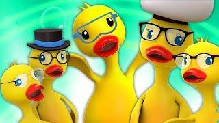 Cinco patos grandes   pulando rimas   Five Big Ducks   Canções dos miúdos   Childrens Songs