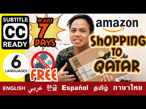 AMAZON SHOPPING TO QATAR IN JUST 7 DAYS   COVID-19 FREE