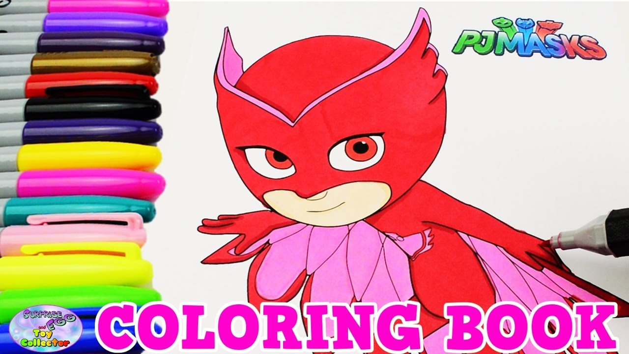 Disney pj masks coloring sheets - Pj Masks Coloring Book Disney Junior Show Owlette Episode Surprise Egg And Toy Collector Setc