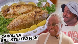 How Gullah Legend Mrs. Emily Meggett Makes Spottail Bass Stuffed With Parsley Rice — Rooted