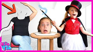 Shrink Toys with Magic! Kin Tin Shrunk her mom tiny! Magic Show with magical wand! | Pretend Play