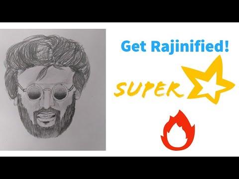 Superstar Rajinikanth Pencil Sketch | Get Rajinified ...
