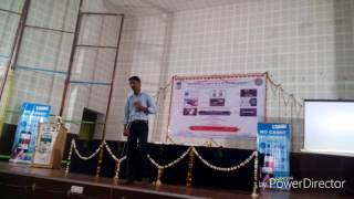 Gandhadagudi karaoke sung by basavaraj at KUD