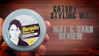 Gatsby Styling Wax (Mat and Hard) Review - Indonesian Language