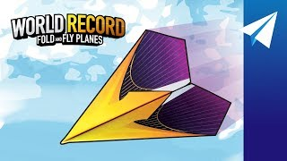 FLIES OVER 200 FEET! — World Record Paper Airplane — How to Fold Suzanne, Designed by John Collins