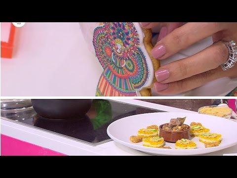 كوكيز عروسة المولد - قلوب الأرز مع اللحم  | زعفران وفانيلا حلقة كاملة