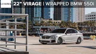 "Wrapped BMW M550i on 22"" Virage Lexani Wheels"