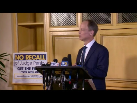 Judge Aaron Persky facing recall after Stanford University rape case, speaks at press conference