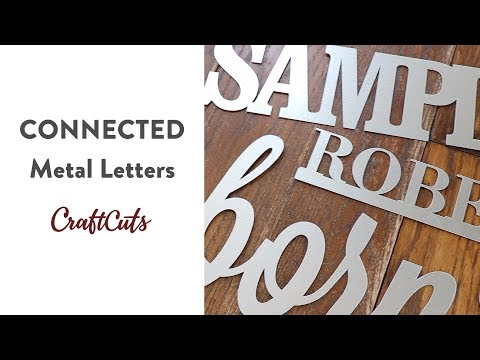 METAL NAMES & WORDS - Product Video | Craftcuts.com