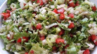 Salata Tarifleri - Mevsim Salatası-Seasonal Salad - Bizim Terek