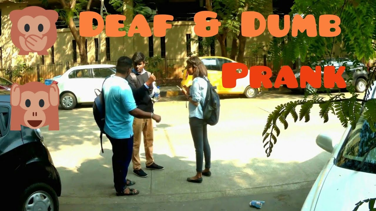 Acting Deaf & Dumb Prank-Funny Prank|Prank in India | by Hetero-genius