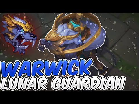 Lunar Guardian Warwick New Skin Full Gameplay - New Warwick Lunar Guardian Skin - League of Legends