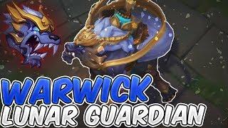 Lunar Guardian Warwick New Skin Full Gameplay - New Warwick Lunar Guardian Skin - League of Legends