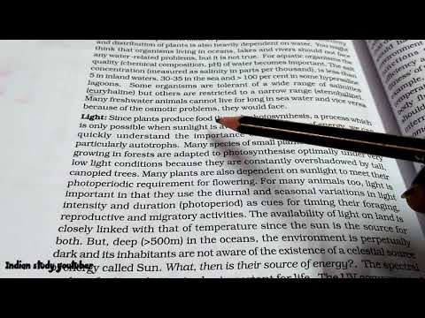 NCERT Class 12th Biology chapter 13th: Organisms and populations (part 1) thumbnail