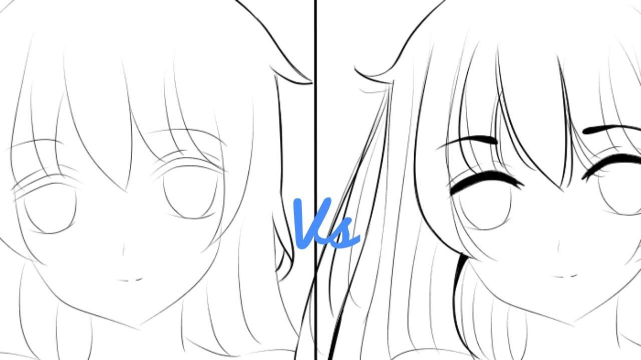 Tutorial cara line art anime untuk pemula medibang paint ...
