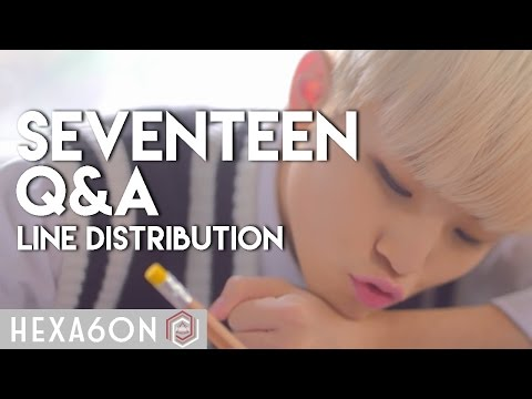 Seventeen - Q&A (FT. Ailee) Line Distribution (Color Coded)